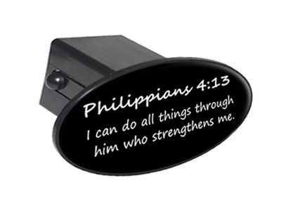 Philippians 4-13 - Christian Bible Verse Oval Tow Trailer Hi
