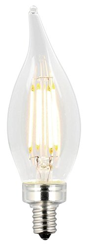Westinghouse Lighting 3317020 40-Watt Equivalent CA11 Dimmable Clear Filament LED Light Bulb with Candelabra Base (6-Pack)