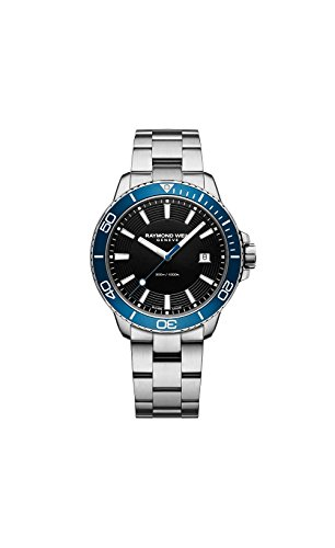 Raymond Weil Men's 'Tango 300' Quartz Stainless Steel Diving Watch, Color Silver-Toned (Model: 8260-ST3-20001)