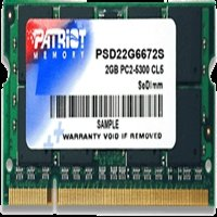 - Patriot Signature 2GB DDR2 667 (PC2 5300) Laptop Memory , 200-Pin SOD