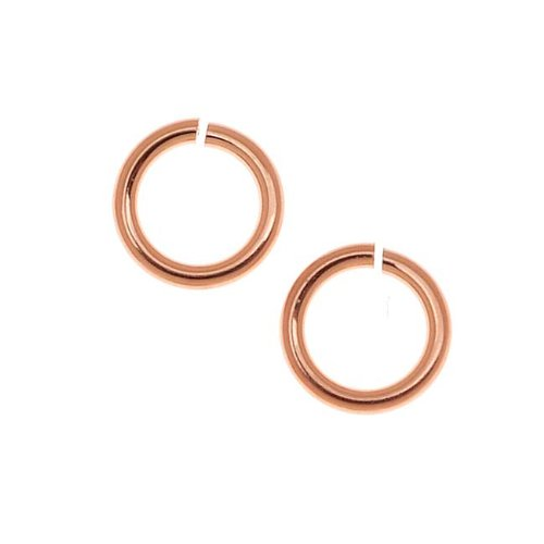 Beadaholique 14K Rose Gold Filled 4mm Open Jump Rings 22 Gauge Thick (20 Pieces) ()