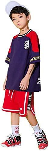キッズ ダンス 衣装 ヒップホップ 男の子 かっこいい ゆったりパンツ サルエル ダンスウェア HIPHOP トップス パンツ ジャズダンス ステージ衣装 練習着 演出服 お揃い 発表会 練習着 野球 運動着 (パンツ,120)
