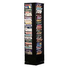 Durham Office Revolving Literature Rack with 80 Magazine Pockets ()