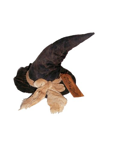 Craft Outlet Fabric Witch Hat Figurine, -