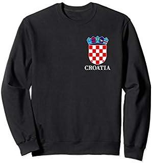 Flag Of Croatia  Croatian Coat Of Arms Pocket Gift Sweatshirt T-shirt | Size S - 5XL