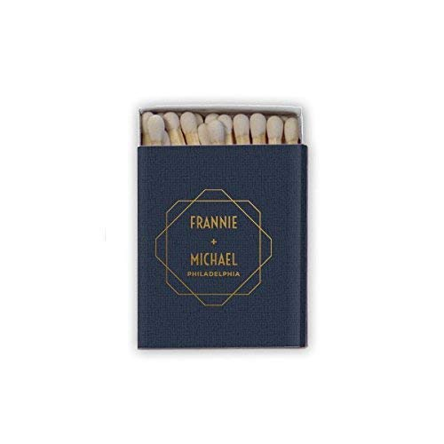 (Monogrammed Personalized Matchbook Favors - Custom Wedding Matches - Shower Matches - Printed 248)