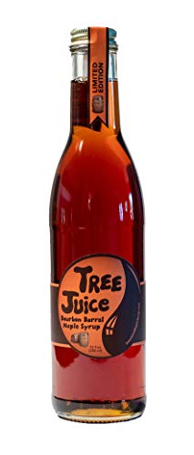- Tree Juice Bourbon Barrel Aged Maple Syrup, Local Farm Made, 12 oz, Grade A Dark -