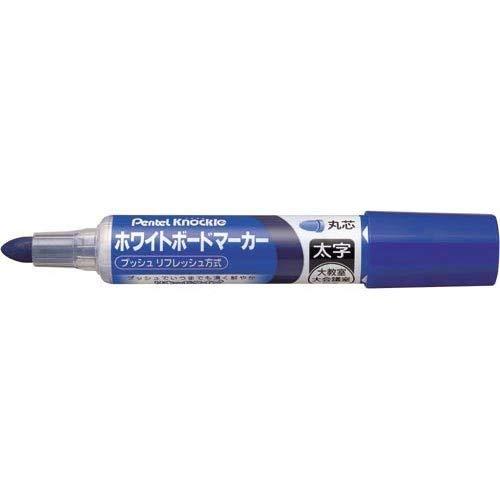 (Pentel whiteboard marker Nokkuru this bold round core blue 10)