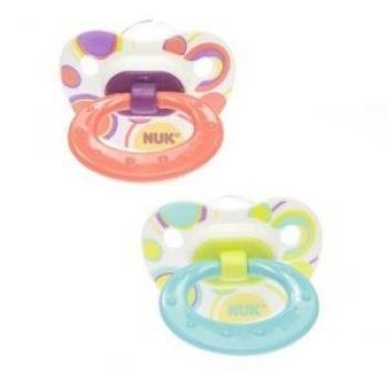 Nuk Orthodontic Trendline BPA Free 18+ Months Dots Pacifiers (2pack) Girls Colors