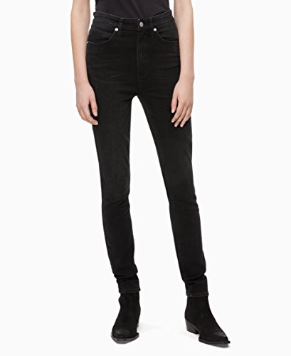 Calvin Klein Jeans Women's Ckj 010 High Rise Skinny Fit Jean, Denver Washed Black, 29X30 by Calvin Klein