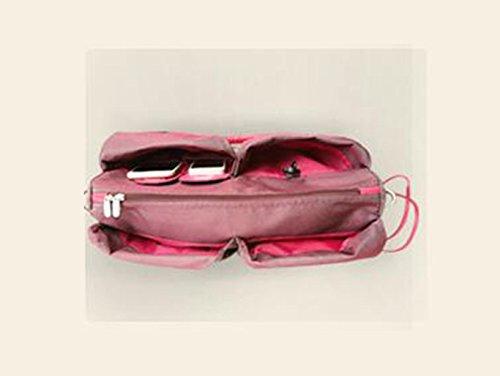 Bolso portable de la momia del hombro, bolsos maternales y de niño de gran capacidad multifuncionales, bolso de la madre, van el morral, mujeres embarazadas de la manera para ser paquete producido ( C Vino rojo