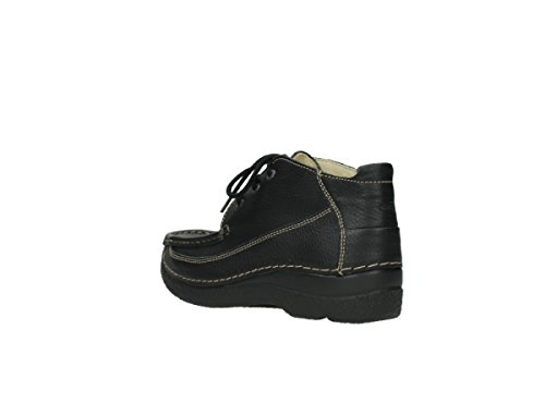 Moc 70000 Up 06200 Black Lace Wolky Leather Zapatos comodidad nbsp;rollo qvYaY
