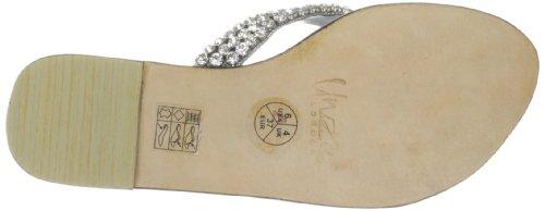 Unze Evening Slippers L18295W - Sandalias para mujer Plateado