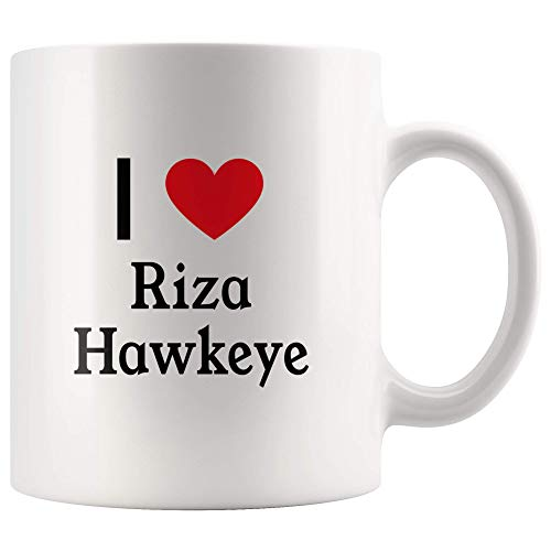 I Love Riza Hawkeye Tea and Coffee Mug: 11oz Tea and Coffee Mug Merchandise For Fans Of Fullmetal Alchemist!