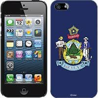 Cellet Black Proguard with Maine Flag for Apple iPhone 5 Hard Case Cover Snap-On