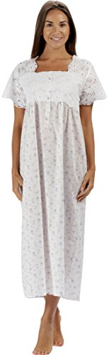 The 1 for U 100% Cotton Short Sleeve Ladies Nightdgown - Elizabeth (Medium, Lilac ()