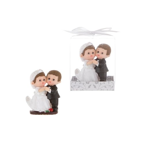 Baby Wedding Couple First Dance Poly Resin in Gift Box, CASE OF 48 by DollarItemDirect
