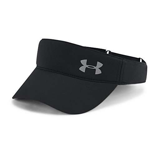 (Under Armour Women's Fly-By Visor, Black (001)/Silver, One Size)