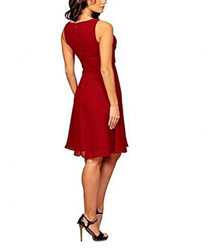Leader of the Beauty - Vestido - para mujer rojo granate 46