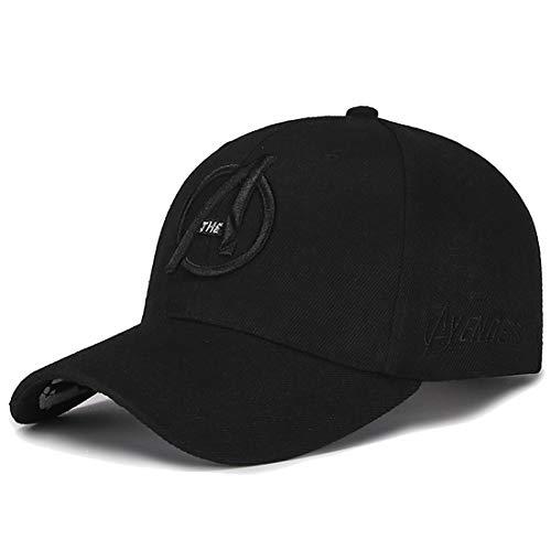 - Marvel Unisex Baseball Cap with Raised Embroidered Logo Printing on Hat Black 1 OneSize