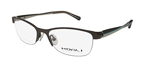 Koali 2667s Womens/Ladies Cat Eye Half-rim Flexible Hinges Eyeglasses/Glasses (48-16-135, Brown / Sand / Turquoise) - Koali Eyewear