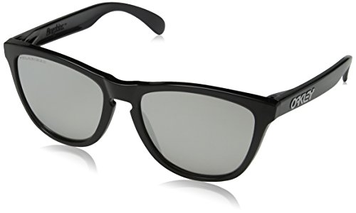 Oakley OO9013 10 Black Ink Frogskins Wayfarer Sunglasses Polarised Lens ()