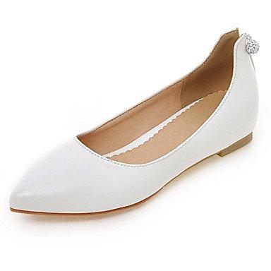 Cómodo y elegante soporte de zapatos de las mujeres pisos primavera verano otoño otros sintética oficina y carrera vestido casual Flat Heel otros negro azul rosa rojo blanco blanco