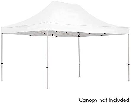 Amazon Com Vispronet 10ft X 15ft Commercial Steel Tent Frame Powder Coated Off White Steel 10x15 Canopy Frame Frame Only Canopy Top Not Included Garden Outdoor