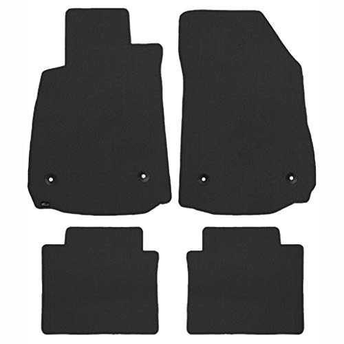 Brightt (MAT-TNJ-432) 4 Pc Car Floor Mat Set - Smoke - compatible for 1968-1970 Pontiac Tempest Convertible (1968 1969 1970 | 68 69 - Tempest Pontiac Convertible
