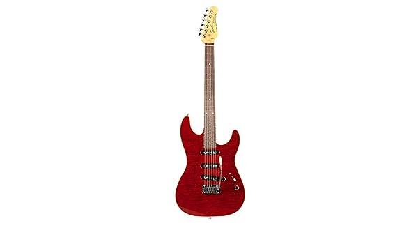 Godin guitarras 039562 rg-3 pasión Trans rojo llama RN diseño guitarra eléctrica con bolsa: Amazon.es: Instrumentos musicales