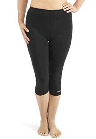 Bohn Swimwear Ladies Sun Protection swim Capri Pant Tight Black ...