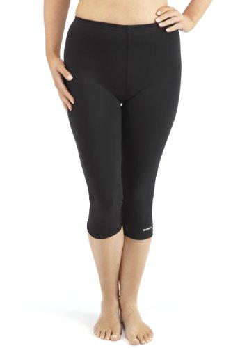 Bohn Swimwear Ladies 3/4 Length Swim Leggings (US 16, Black)