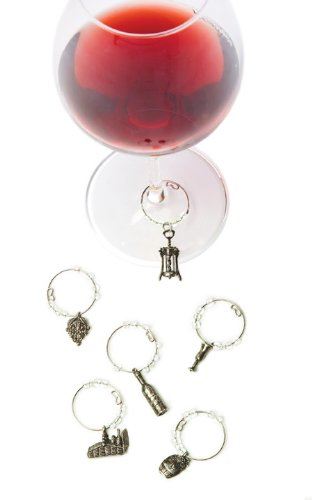 True 0694 Fabrication Pewter Wine Charms, Winery ()