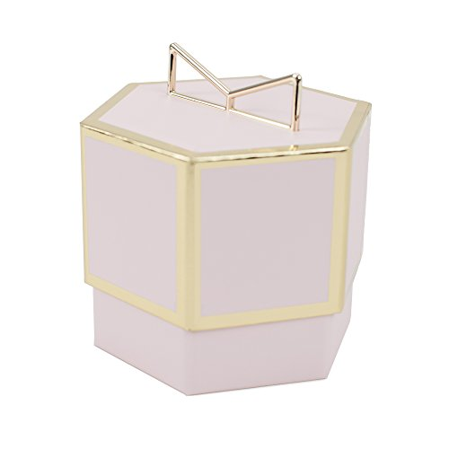 Hallmark Signature Small Gift Box for Jewelry and Women's Gifts (Light Pink and Gold)