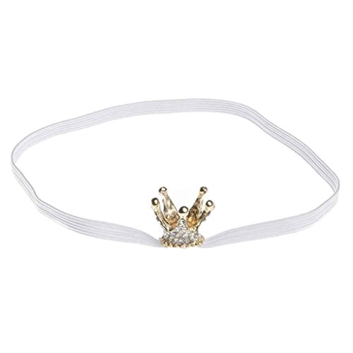 Euone Baby Girl Crown Hair Accessories For Girls Infant Elastic Rhinestone Hair Band (White) (Alien Princess Costume)