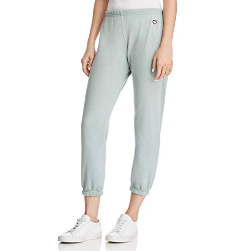(Spiritual Gangster Women's Only Love Perfect Sweatpants Sage Small 25.5 )