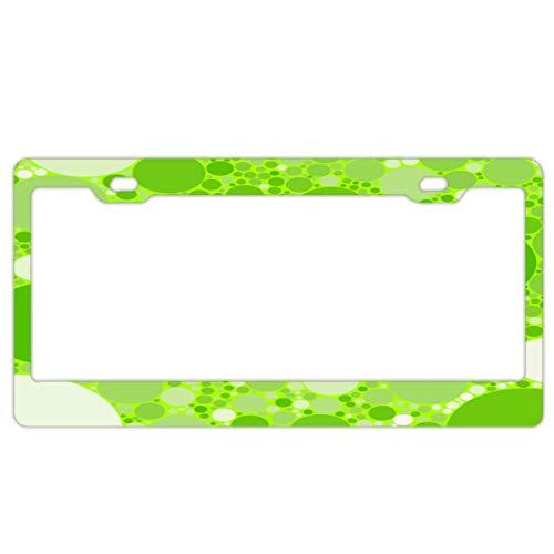 "Hizhongmen Seaweed Bubbles Aluminum Car Metal License Plate Frames for Car Plate Tag 12"" X 6"""