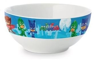 PJ Masks Kids Gekko Owlette and Catboy Ceramic Breakfast Cereal Bowl Light Blue New 2017-2018