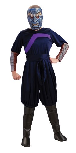 The Last Airbender Child's Deluxe Costume And Mask, Blue Spirit  (Firebender Halloween Costume)