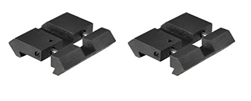 UDplus, Inc. (2Pair)Dovetail-To-Picatinny Low Profile Rail Adaptor, Black