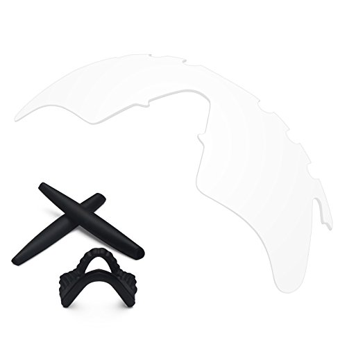 Replacement Lenses & Earsocks Rubber Kits for Oakley M Frame Heater Sunglasses (Vented Crystal Clear-Non Polarized) ()