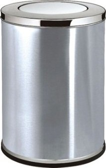 Amazoncom Lobbybathroom Stainless Steel Trash Can Large Home