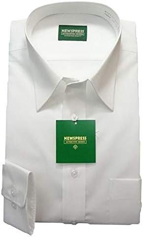 ワイシャツ メンズ 長袖 形態安定 57サイズ 白色 ビジネス おしゃれ シンプル 仕事 結婚式