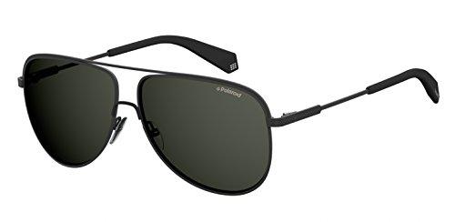 Polaroid Sunglasses Men's Pld2054s Polarized Aviator Sunglasses, MTT BLACK, 60 ()