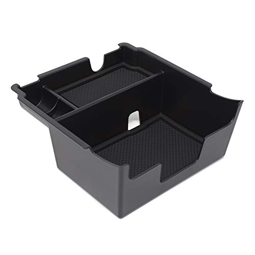 Custom Fit Center Console Armrest Organizer Accessories for 2018 2019 Subaru Crosstrek and Impreza (Solid Black)