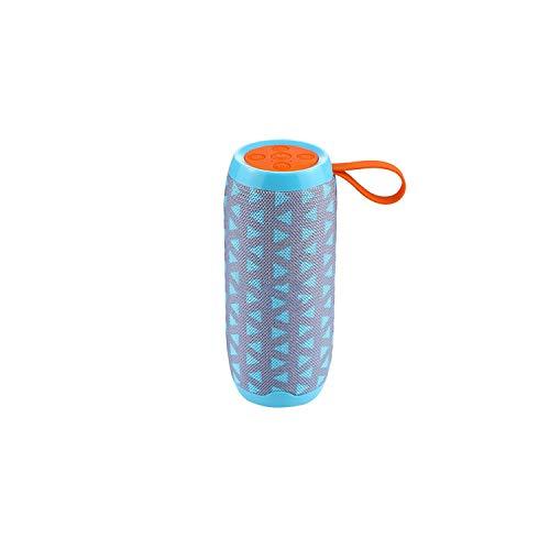 Bluetooth Speaker 10W Wireless Stereo Fabric Subwoofer Speakers Support TF Card FM Radio USB AUX,Light Blue Speaker,Speaker