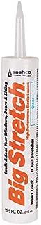 product image for Sashco 10006 100 Percent Acrylic Latex Big Stretch High Performance Caulk, 10.5oz Cartridge, Clear