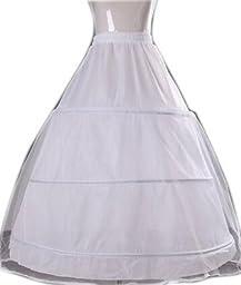 BFB Girl\'s Dress Petticoat Crinoline for Girl Dress (One size, White)