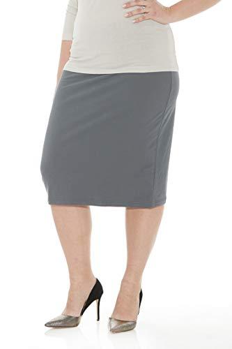 Esteez Womens Plus Size Skirt Cotton Spandex Knee Length Dallas Iron 4X