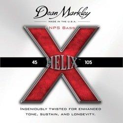 Dean Markley Helix X NPS Bass Guitar Strings, 40-100, 2610, Light